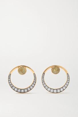 Noor Fares Svadhisthana 18-karat Gray Gold, Labradorite, Diamond And Enamel Earrings