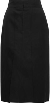 Isabel Marant Rarson Wool-twill Midi Pencil Skirt
