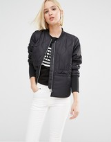 Cheap Monday Quilted Bomber Jacket