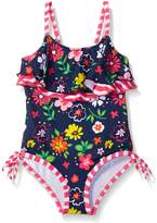 Pink Platinum Little Girls Floral One Piece Swimsuit