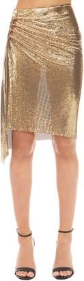 Paco Rabanne Mini Knee Length Mesh Skirt