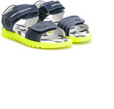 John Galliano double strap sandals - kids - Leather/Pig Leather/rubber - 25