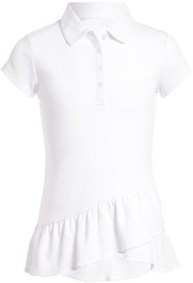 Chaps Girls' 7-16 Ruffle Polo Tunic