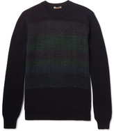 Bottega Veneta Jacquard-panelled Cashmere Sweater