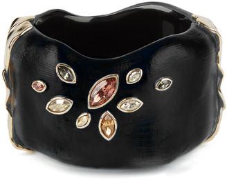 Alexis Bittar Navette Crystal Large Hinge Bracelet