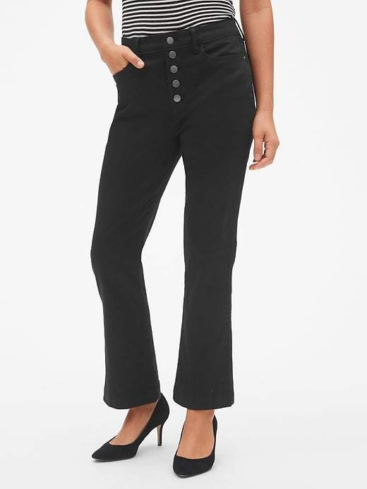 Gap High Rise Button-Fly Crop Kick Pants in Sculpt