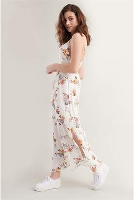Garage Smocked Waist Maxi Dress - FINAL SALE Snow White Floral