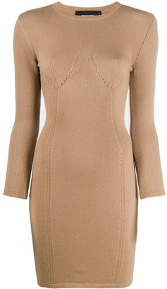 DSQUARED2 Knitted Long-Sleeve Dress