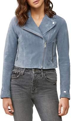 Soia & Kyo Elaine Suede Moto Jacket