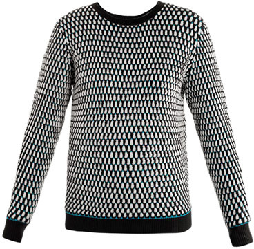 Jonathan Saunders Oval-knit sweater