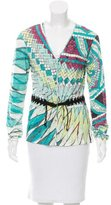 Roberto Cavalli Belted Abstract Cardigan w/ Tags