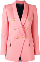 Balmain double breasted blazer - women - Cotton/Viscose/Wool - 36