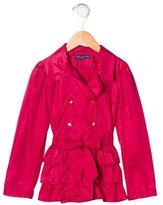 Blumarine Girls' Ruffled Trench Coat