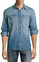 Ralph Lauren Washed Denim Western Shirt, Indigo