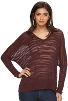 JLO by Jennifer Lopez Women's Lurex Drop-Shoulder Sweater