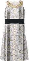 Giambattista Valli embellished neck straight dress - women - Silk/Cotton/Acrylic/glass - 40
