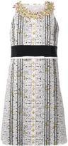 Giambattista Valli embellished neck straight dress