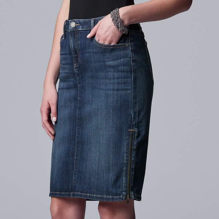 ad2482c67 Zipper Denim Skirt - ShopStyle