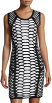 Elliatt Empire Knit Patterned Dress, Black