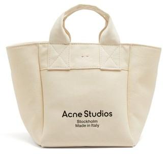 Acne Studios Logo-print Canvas Tote Bag - Beige