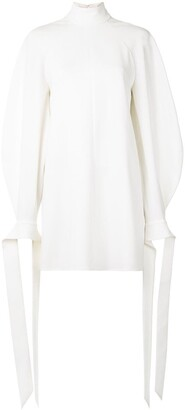 Carolina Herrera Tie Balloon Sleeves Mini Dress