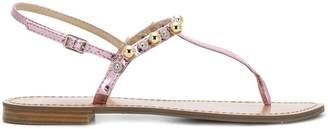 Versace beaded thong sandals