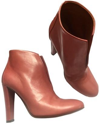 Michel Vivien Pink Leather Ankle boots