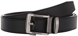 Nike Acufit Single Stitch Flat Edge Belt (Black) Men's Belts
