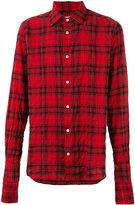 Faith Connexion button-up plaid shirt - men - Cotton/Spandex/Elastane - S