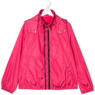 Moncler Enfant Hooded Long-Sleeved Jacket