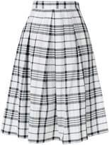 Max Mara checked pleated skirt