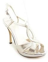 Caparros Fairfax Women Open Toe Synthetic Silver Platform Heel.