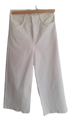 Benetton White Denim - Jeans Trousers for Women