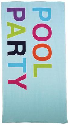Oh Hello, Pool Party Print, Beach Towel, 32x62
