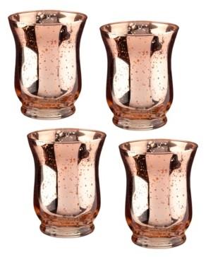 Lillian Rose Copper Mercury Tulip Shaped Glass Votive or Tea Light Holders in Set of 4