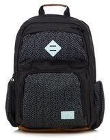 Animal Black Geometric Print Backpack