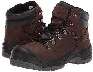 Rocky 5 Work Smart Comp Toe (Brown) Women's Boots