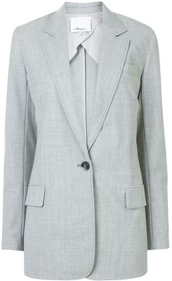 3.1 Phillip Lim Chambray Single-Breasted Blazer