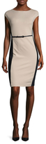 Max Mara Detroit Colorblocked Belted Sheath Dress