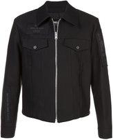 Yang Li zipped patch embellished jacket