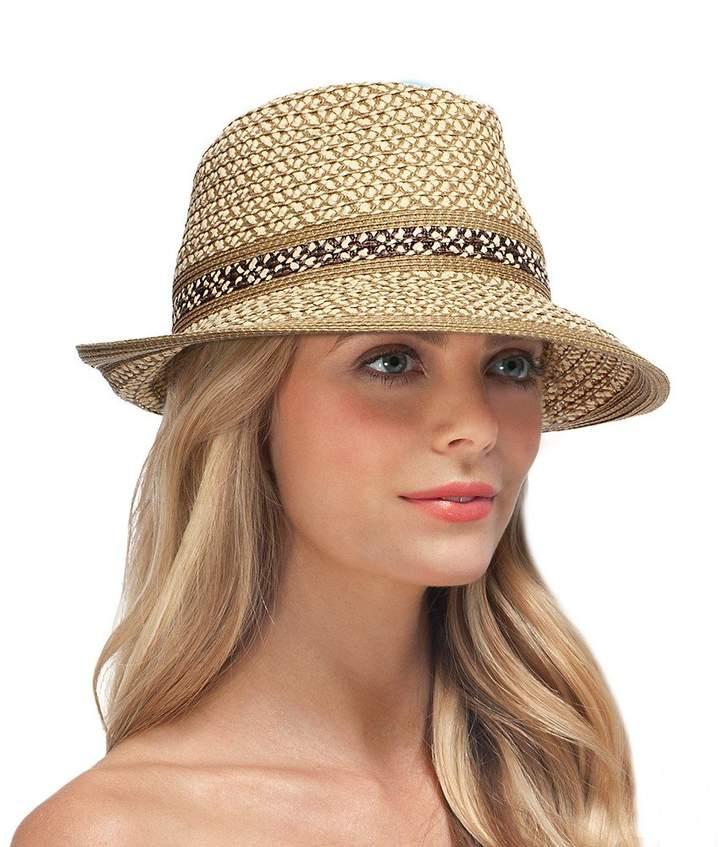Eric Javits Luxury Fashion Designer Women's Headwear Hat - Big Deal - Peanut