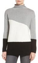 Vince Camuto Petite Women's Colorblock Turtleneck Sweater