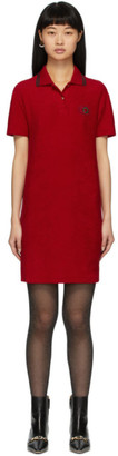 Gucci Red Terrycloth Polo Dress