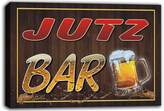 AdvPro Canvas scw3-075323 JUTZ Name Home Bar Pub Beer Mugs Cheers Stretched Canvas Print Sign