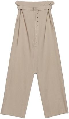 Low Classic High-Waisted Poplin Pants