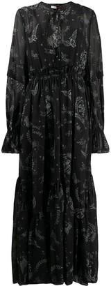 Tommy Hilfiger Bird Print Maxi Dress
