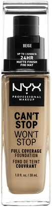 NYX Can't Stop Won't Stop Full Coverage Foundation - Beige