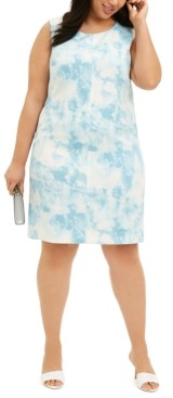 Nine West Plus Size Printed Sheath Dress