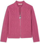 Marc Jacobs Cable-knit Merino Wool Cardigan - Pink