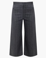 Veronica Beard Cocoa Cropped Wideleg Pant